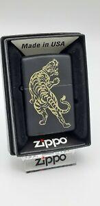 Original Zippo - Golden Tiger - black matt  - 2018 -  Neu 60094697