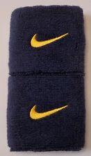 Nike Swoosh Wristbands College Navy / University Gold Mens Women's Osfm
