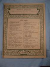 Menuet By I J Paderewski Sheet Music Vintage Copyright 1899 G Schirmer Piano (O)