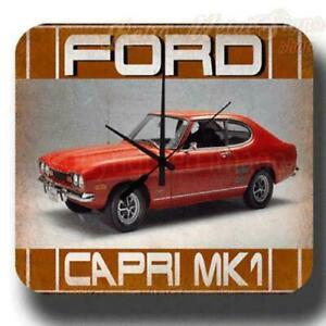 FORD CAPRI MK1 WALL CLOCK VINTAGE RETRO GARAGE WORKSHOP TIN METAL SIGN CLOCK