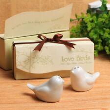 Love Birds Ceramic Salt And Pepper Shakers Wedding Favor Happy Birds Gift Decor