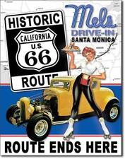 Mel's Santa Monica California Hotrod Drive-In Diner Metall Deko Schild