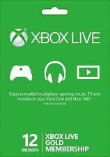 Microsoft Xbox Live 12 mesi Gold Card - Cards/dlc