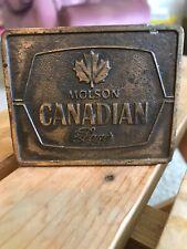 Vintage Molson Award Toronto Beer Bottle Opener Belt Buckle Rare Good Condition