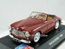 SIMCA 8 SPORT 1949 CAR MODEL BURGUNDY 1/43RD SCALE OPEN TOP EXAMPLE T3412Z ^**^