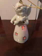 Porcelain angel ornament with lights