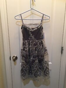 Five Loaves Two Fish Dress Sz 8 Silver Party Christmas Holiday
