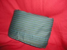 CALVIN KLEIN GREEN BLUE STRIPE QUEEN FLAT SHEET 100% COMBED COTTON 86 X 102