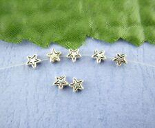 75 x 4mm Star Metal Spacer Beads Tibetan Silver