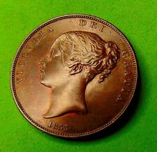 More details for full  strike  victoria  unc  *1853*  ot  penny  1d ...lucido_8  coins
