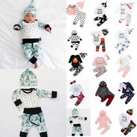 Infant Baby Girl Boys Kids Tops Pant Tracksuit Autumn Winter Cotton Clothes Sets