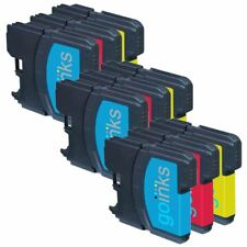 9 C/M/Y Ink Cartridges compatible with Brother DCP-145C DCP-375CW DCP-395CN