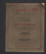 """FOURCHAMBAULT (58) CATALOGUE / Usine de FERRURES QUINCAILLERIE """"A. REMY"""" en 1928"""