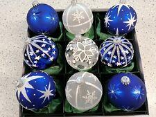 Exklusive Christbaumkugeln Weihnachtskugeln Christbaumschmuck Krebs Lauscha blau