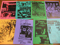 Negative Approach Repo Concert Flyer Lot The Damned Misfits Meatmen Ground Zero