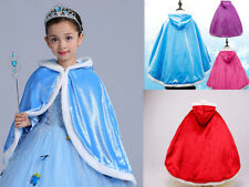 Kids Girls Cape Hooded Cloak Coat for Frozen Elsa Anna Little Hood Fancy Dress