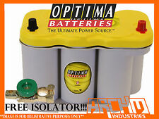 Optima D27F Yellow Top Deep Cycle Battery winches,audio systems,inverters