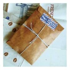 50Pcs Brown Craft Kraft Paper Envelope Retro Envelopes Invitation Letter 20 A5D6