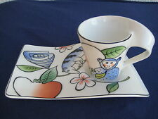 Villeroy&Boch * New Wave * Jungle * Espressotasse mit Partyplatte * Tasse *