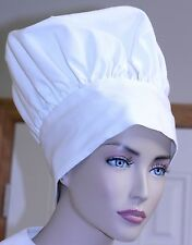 """Vintage CHEF'S HAT White Cotton Cook barbecue costume no stains/tears 23"""""""