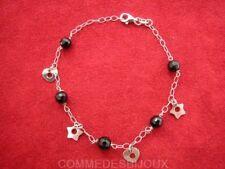 """Bracelet Argent 925 """"Boules Noires"""" 4.00g Amour True Love - Bijoux pur Cadeau"""