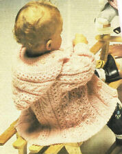 Baby Toddler Aran Style Cable & Twist Panel Jacket Knitting Pattern