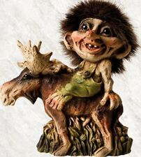 Nyform Norway Troll Riding Moose Figure, New