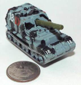Small Micro Machine Plastic German WWII type Elefant Tank/ Blue/Black Camo # 18