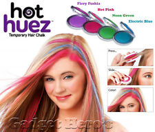 Hot Huez Temporary Hair Chalk. Set of 4 Colors Hues Of Temporary Compact Chalks