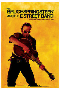 The BOSS: Bruce Springsteen * Working on a Dream * Tour Poster 2009  12x18