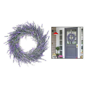 18-inch Large Lavender Wreath Flower Farmhouse Garland Front Door Wall Decor