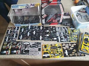 Lot of Star Wars Pocketmodels TCG, by Wizkids 2007 Some boxed and some cards