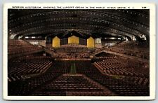 Interior Auditorium Largest Organ in the World Ocean Grove, New Jersey Postcard