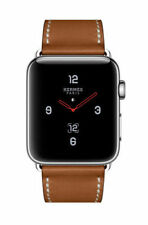 Apple Watch Hermès 44 Stainless Steel Case Fauve Barenia Leather Single Ship Now