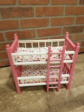 """Cititoy Circo Mini 8"""" Baby Doll Bunk Bed Beds Playset Light Pink Ladder NO DOLLS"""