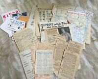 5 Of 5 PACK - 25 Pieces Junk Journal Ephemera Maps Music Vintage Pages