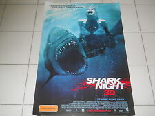 SHARK NIGHT 3D  2011  JAWS HORROR ORIG RARE MINT DS OS CINEMA MOVIE POSTER