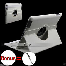 White Slim Stand Smart Leather Case for Apple iPad 4, 3, 2+Stylus AU