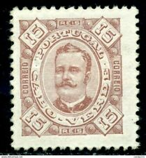 1894 King Carlos I,Definitives,Cabo Cape Verde,Mi.27A,15R,perf.11.5,MLH