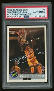 1992-93 Shaquille O'Neal Classic Draft Picks Auto Autograph Rookie Rc PSA/DNA