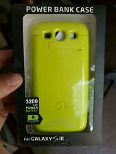 NEW Power Bank Battery Case w/ Stand For Samsung Galaxy S3 i9300 GREEN 3200mAh