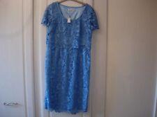 Jacques Vert Layered Lace Dress -blue Size 22