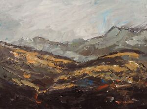 Snowdonia Welsh Mountains ORIGINAL PAINTING Steve Greaves Wales Kyffin Art Hills