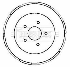 BORG BBR7186 BRAKE DRUM Rear