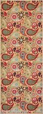 Paisley Beige Non Skid Slip Rubber Back Latex 2x5 2x6 Runner Rug hallway Kitchen