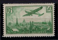 AQ140567/ FRANCE / AIRMAIL / Y&T # 14 MINT MH CERTIFICATE – CV 1320 $