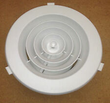"""8 X 6"""" CEILING VENT DUCTED HEATER HEATING OUTLET VENT ROUND DOWNJET 150mm vents"""