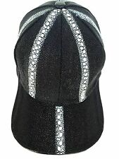 BLACK HAT STINGRAY BASEBALL CAP,GENUINE LINING SNAPBACK(6 LINE)DIAMOD SHAPE=026