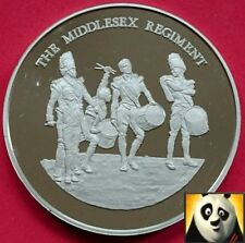 Le middlesex régiment britannique 45mm hallmarked silver proof medal coin