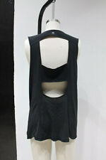 Lululemon womens Open Back top sleeveless Striped Stretch Gym Workout Running